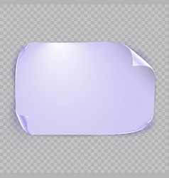 Purple sheet of paper with shadow isolated on vector