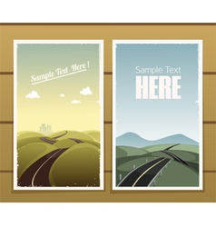 Road posters vector