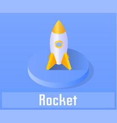 rocket icon symbol vector image vector image