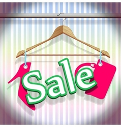 Sale clothing hangers vector