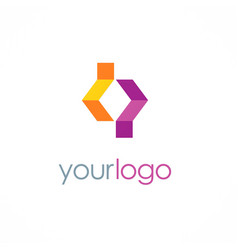 Shape business logo vector