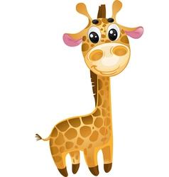 Soft toys - baby giraffe vector