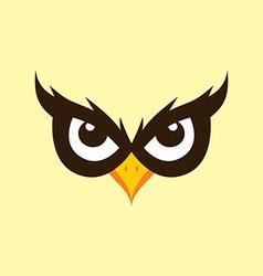 Spooky owl theme vector