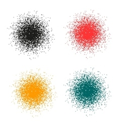 The circle of small particles vector