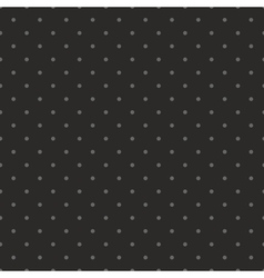 Tile dark pattern with grey polka dots on black vector image vector image