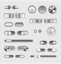toggle switch buttons set vector image vector image