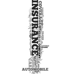 Your car insurance text word cloud concept vector