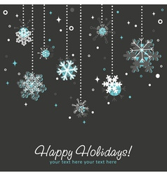 Ornate Christmas card vector image