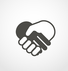 Web icon of shaking hands digital application vector