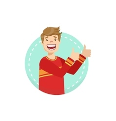 Thumbs up emotion body language vector