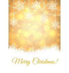 Christmas shiny card vector image