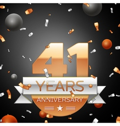 Forty one years anniversary celebration background vector