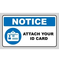 Attach your id card icon information mandatory vector
