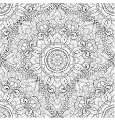 Seamless monochrome ornate pattern vector