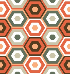 Retro modern hexagon pattern vector