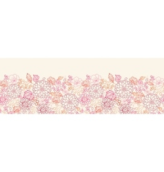 Flowers and berries horizontal seamless pattern vector image