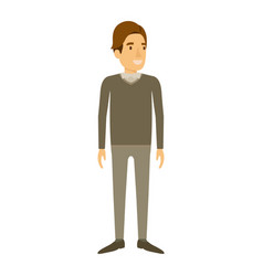 Colorful silhouette of man stand in formal clothes vector