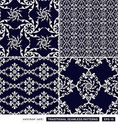Vintage blue backgrounds vector image