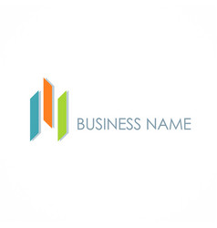 Shape colored business logo vector