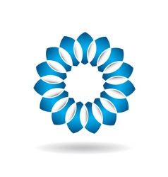 Abstract blue flower infinite loop vector