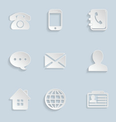 Contact Paper Icons Set vector image
