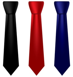 Multicolored silk ties set vector