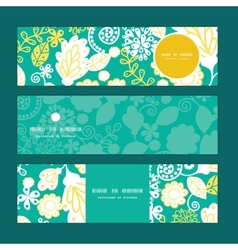 Emerald flowerals horizontal banners set vector