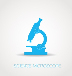 Microscope icon simple vector