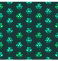 St patrick day seamless pattern with shamrock vector