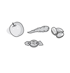 Healthy food icons vector