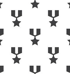 war medal seamless pattern vector image