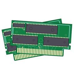 digital memory ram vector image