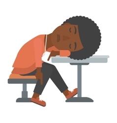 Woman sleeping in bar vector image