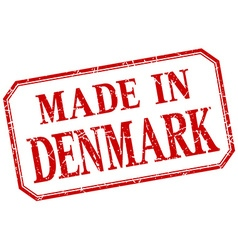 Denmark - made in red vintage isolated label vector
