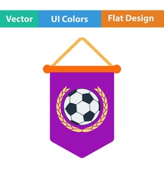 Football pennant icon vector