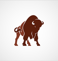 Bison buffalo logo badge emblem sign isolated vector