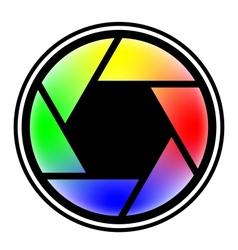 camera shutter symbols vector image