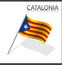 catalan flag catalonia vector image vector image