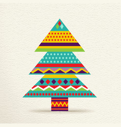 Christmas tree design in fun colors vector image vector image
