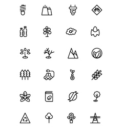 Ecology line icons 3 vector