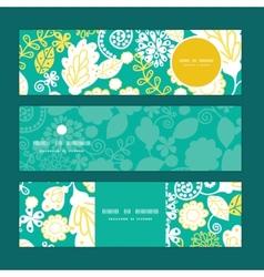 Emerald flowerals horizontal banners set vector