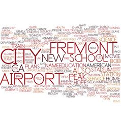 Fremont ca text background word cloud concept vector