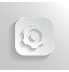 Gear icon - white app button vector