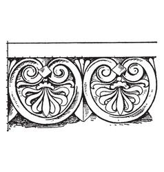 graeco-italic cresting border has a downward vector image vector image