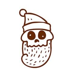 Hand Drawn Dead Santa Claus vector image vector image