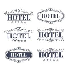 Hotel vintage labels vector