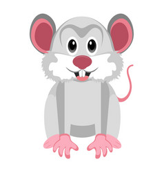 Isolated cute mouse vector