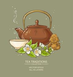 Jasmine tea vector