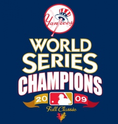 mlb 2009 world champs vector image