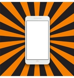 modern smartphone on colorful striped vector image vector image